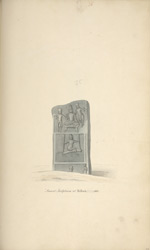 Memorial stone. 'Ancient Sculptures at Tulluck 1801.'